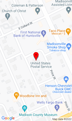 Google Map of CAP Auctions PO Box 995, Madisonville, TX, 77864