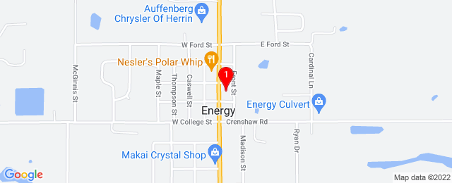 Google Map of PO Box 190 Energy, IL 62933