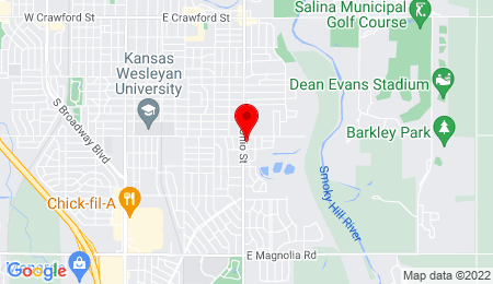 Google Map of PO Box 2552 Salina, KS 67402