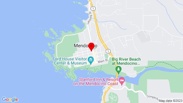 Google Map of PO Box 800, 45200, Mendocino, CA 95460