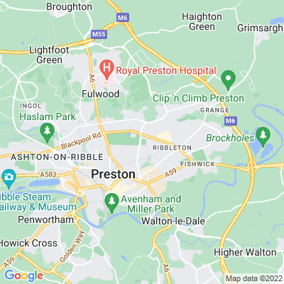 Moor Park, Preston Location