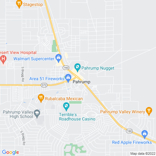 Map of Pahrump, NV