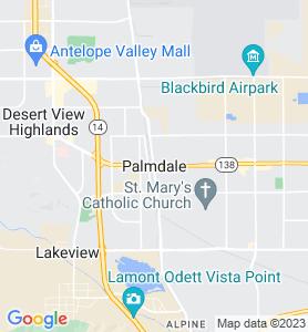 Palmdale CA Map
