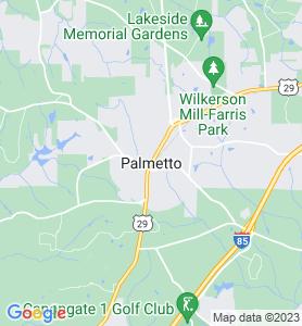 Palmetto GA Map
