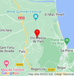 Google Map of Pals, Girona, Spain