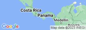 Panamá map