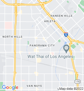 Panorama City CA Map