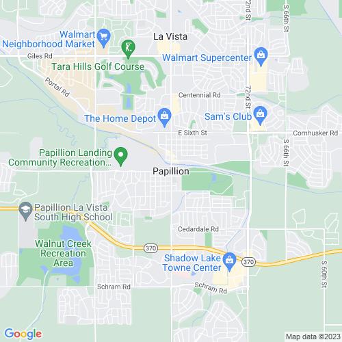 Map of Papillion, NE