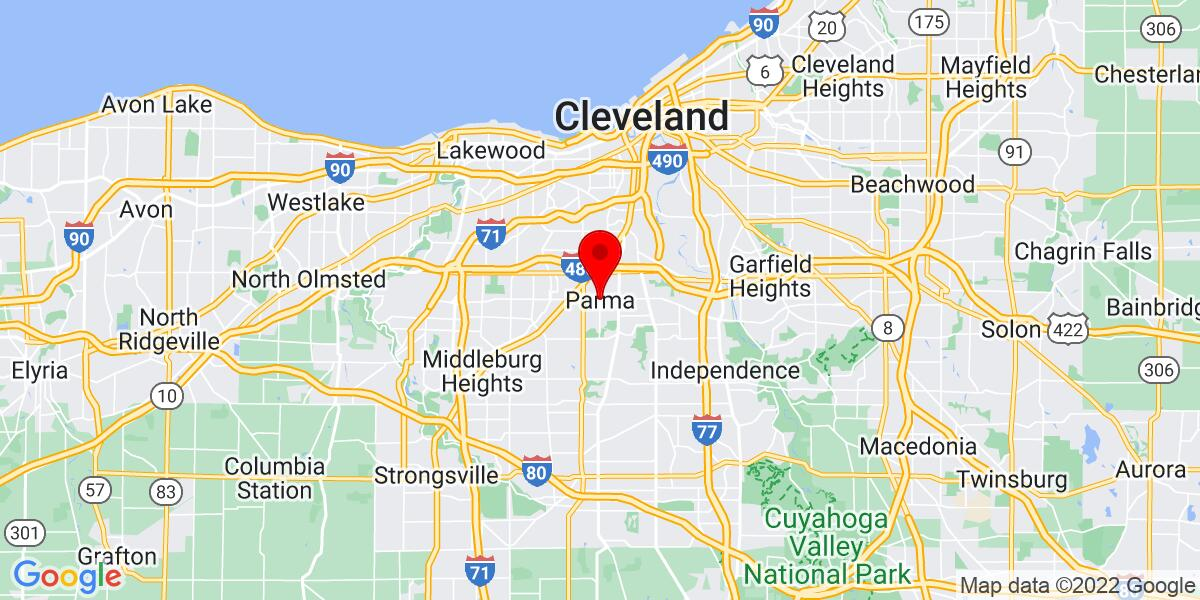 Google Map of Parma, OH
