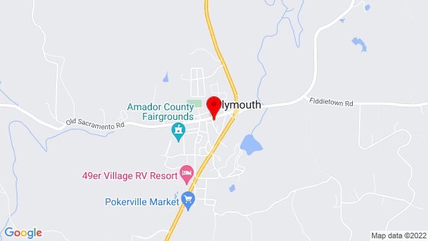 Google Map of Participating Wineries, Plymouth, CA 95669