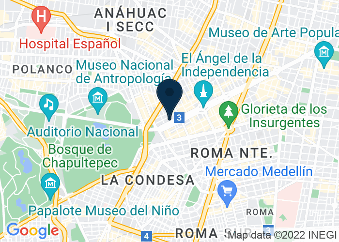 Map of Paseo De la Reforma 465 Col. Cuahtemoc, Mexico City, Mexico