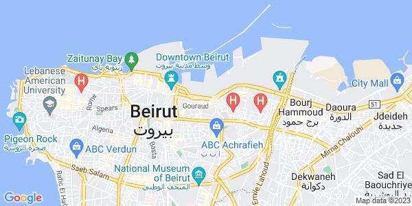 Google Map of Pasteur+street%2C+Remeil%2C+Beirut