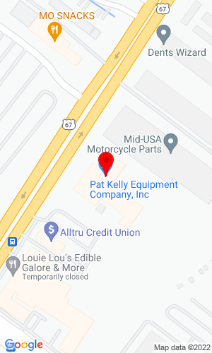 Google Map of Pat Kelly Equipment Co. 5920 N Lindbergh Blvd, Hazelwood, MO, 63042,