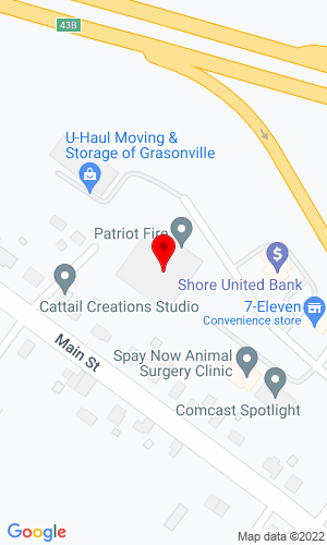 Google Map of Patriot Fire 225 Hess Road, Grasonville, MD, 21638,