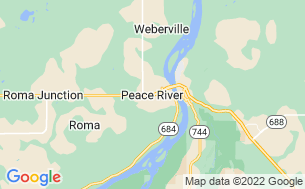 Map of Peace River Lions Pines Campsite