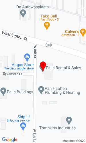 Google Map of Pella Rental & Sales 916 W 8th Street, Pella, IA, 50219