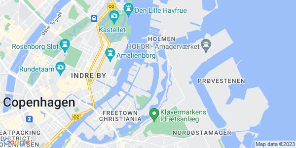 Et kort over Den Danske Scenekunstskole
