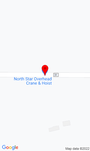 Google Map of Perfection Crane and Hoist Inc. 201 Degraff Ave., Swanville, MN, 56382