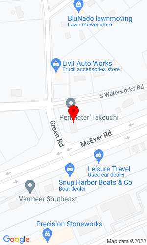 Google Map of Perimeter Takeuchi 3022 Peachtree Industrial Blvd, Buford, GA, 30518