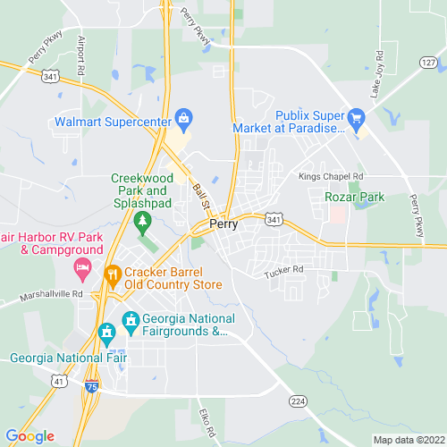 Map of Perry, GA