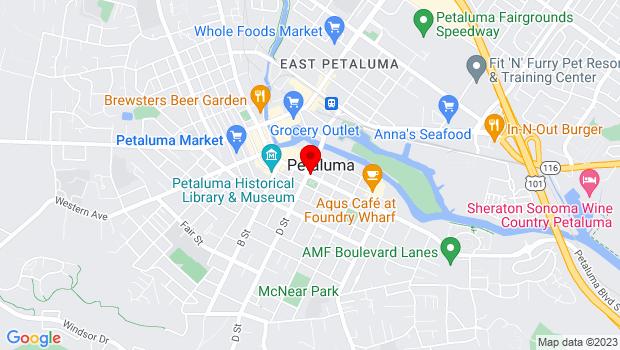 Google Map of Petaluma, CA 94952