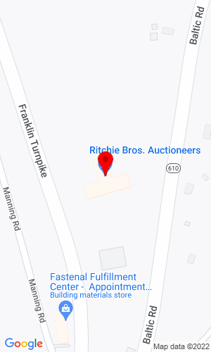 Google Map of Petrowsky Auctioneers / A Ritchie Bros. solution 275 Route 32, North Franklin, CT, 06254,