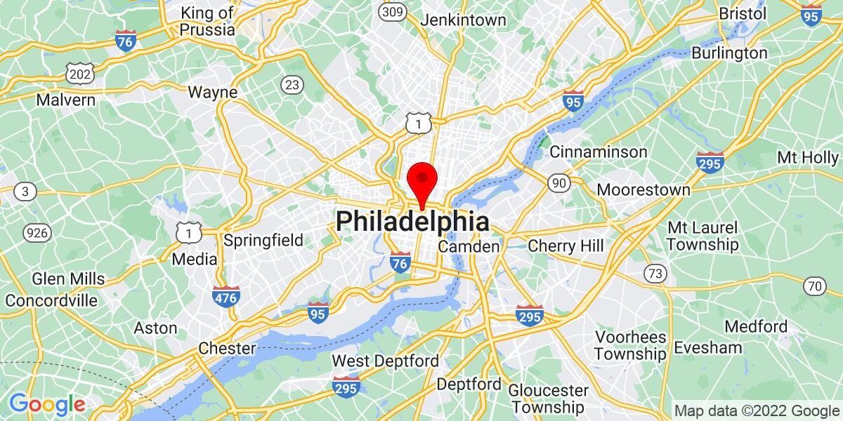 Google Map of Philadelphia, PA