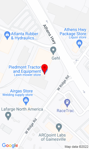 Google Map of Piedmont Tractor & Equipment 1780 MLK Jr. Blvd SE, Gainesville, GA, 30501