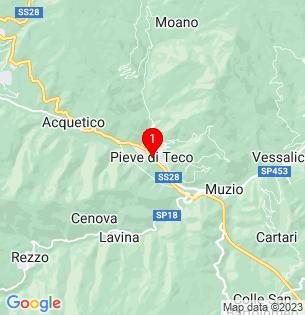 Google Map of Pieve di Teco, Liguria, Italy