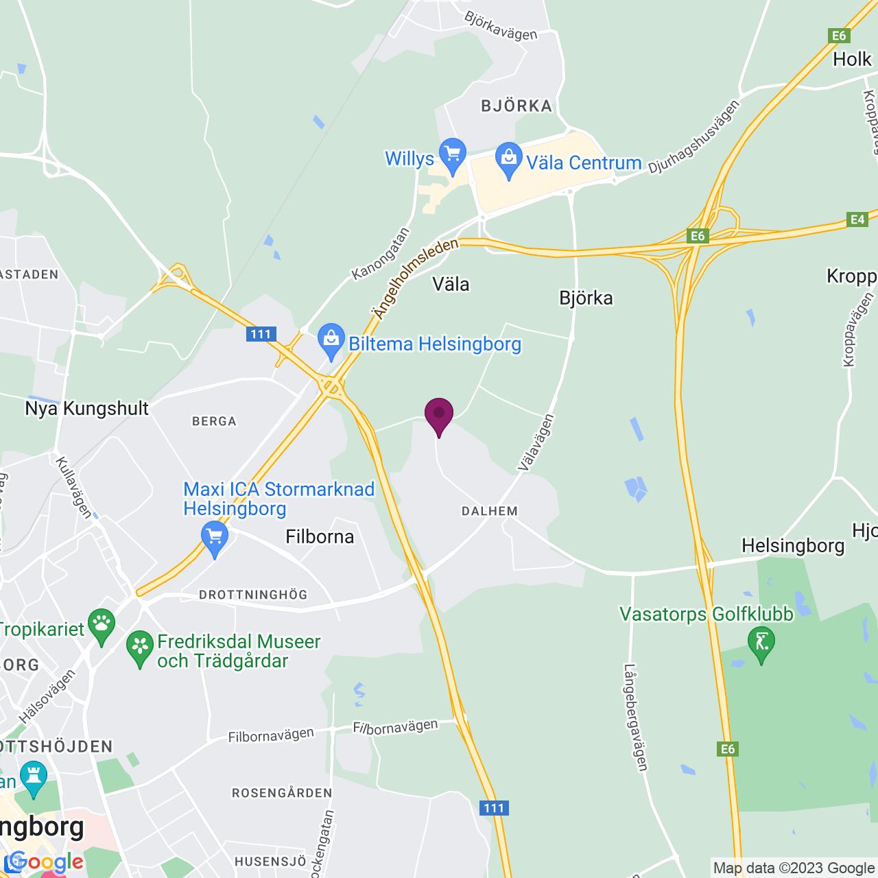 Karta över Pinnmogatan 1