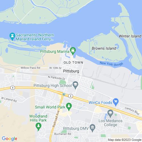 Map of Pittsburg, CA