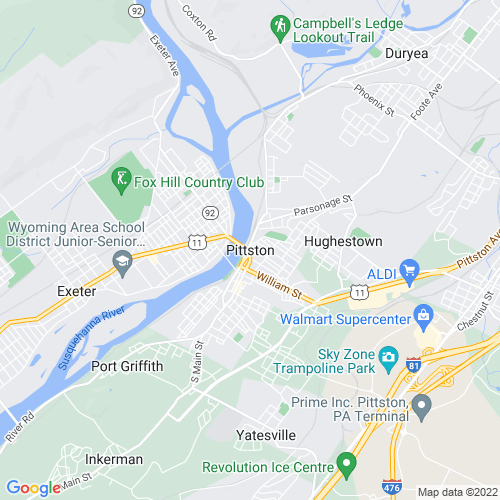 Map of Pittston, PA