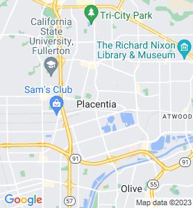 Placentia CA Map