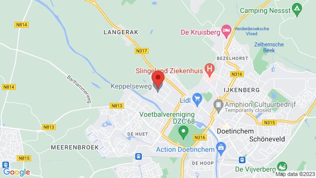 Doetinchem+Hyundai op Google Maps