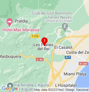 Google Map of Planes del Rei, Tarragona, Spain