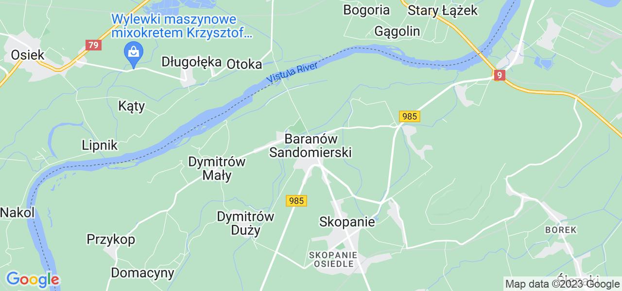 Dostępne w Baranowie Sandomierskim lokalizacje punktów nadania, z których możesz skorzystać, chcąc wysłać turbinę do regeneracji w największym serwisie w Polsce