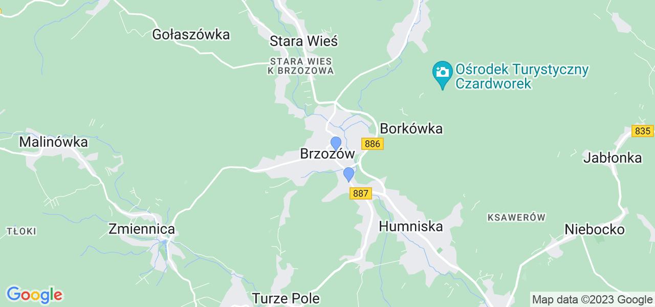 Dostępne w Brzozowie lokalizacje punktów nadania, z których możesz skorzystać, chcąc wysłać turbinę do regeneracji w największym serwisie w Polsce