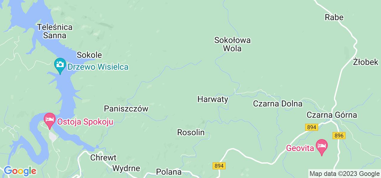 Dostępne w Czarnej lokalizacje punktów nadania, z których możesz skorzystać, chcąc wysłać turbinę do regeneracji w największym serwisie w Polsce