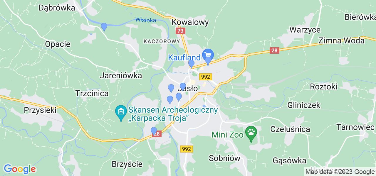 Dostępne w Jasle lokalizacje punktów nadania, z których możesz skorzystać, chcąc wysłać turbinę do regeneracji w największym serwisie w Polsce
