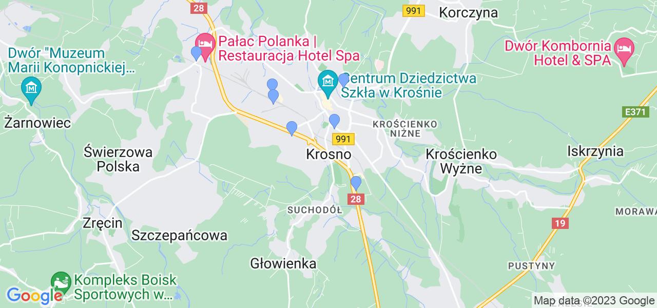 Dostępne w Krosnie lokalizacje punktów nadania, z których możesz skorzystać, chcąc wysłać turbinę do regeneracji w największym serwisie w Polsce