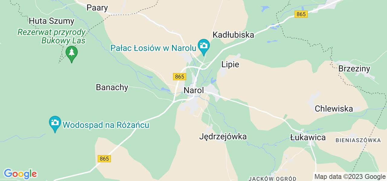 Dostępne w Narolu lokalizacje punktów nadania, z których możesz skorzystać, chcąc wysłać turbinę do regeneracji w największym serwisie w Polsce