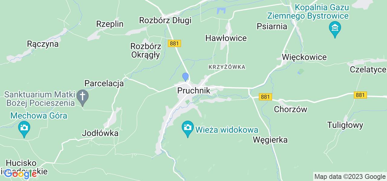Dostępne w Pruchniku lokalizacje punktów nadania, z których możesz skorzystać, chcąc wysłać turbinę do regeneracji w największym serwisie w Polsce