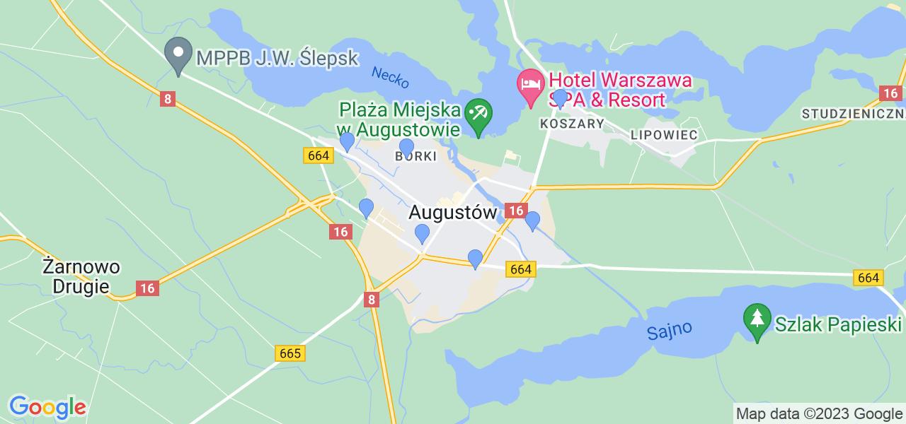 Dostępne w Augustowie lokalizacje punktów nadania, z których możesz skorzystać, chcąc wysłać turbinę do regeneracji w największym serwisie w Polsce