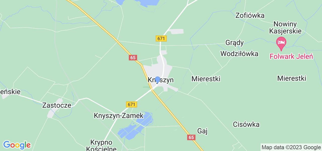 Dostępne w Knyszynie lokalizacje punktów nadania, z których możesz skorzystać, chcąc wysłać turbinę do regeneracji w największym serwisie w Polsce
