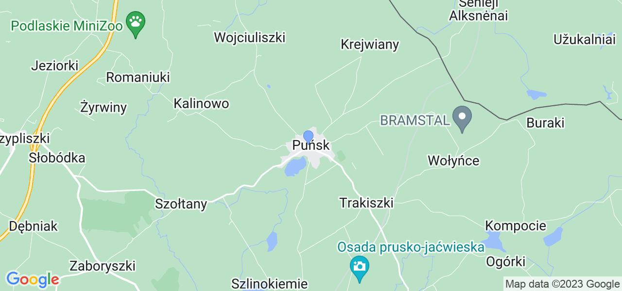 Dostępne w Puńsku lokalizacje punktów nadania, z których możesz skorzystać, chcąc wysłać turbinę do regeneracji w największym serwisie w Polsce