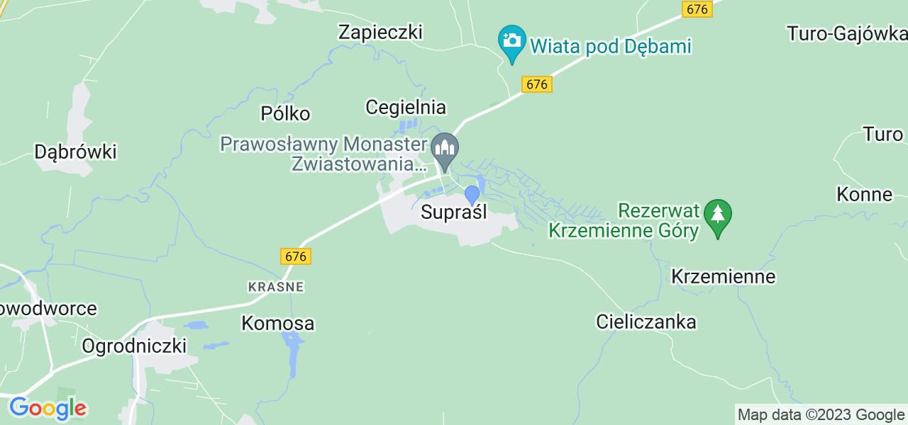 Dostępne w Supraślu lokalizacje punktów nadania, z których możesz skorzystać, chcąc wysłać turbinę do regeneracji w największym serwisie w Polsce