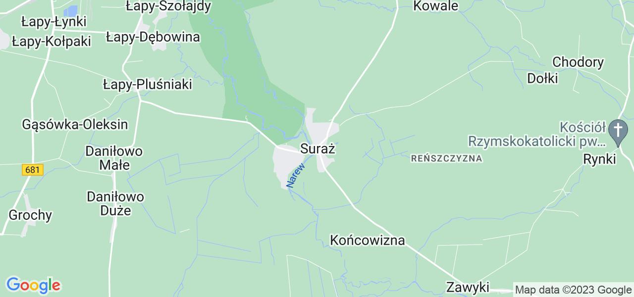 Dostępne w Surażu lokalizacje punktów nadania, z których możesz skorzystać, chcąc wysłać turbinę do regeneracji w największym serwisie w Polsce