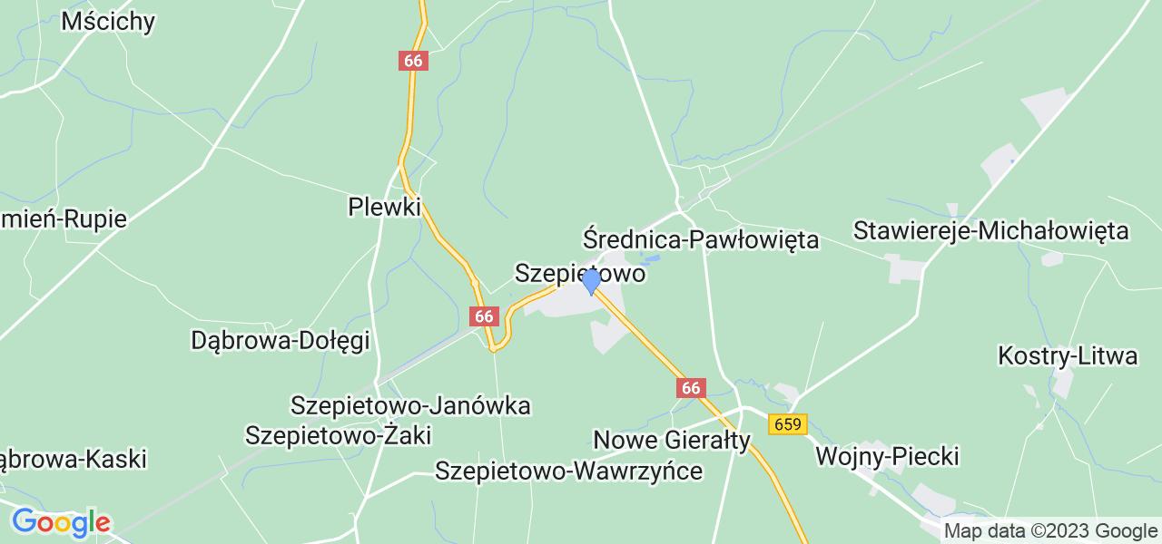 Dostępne w Szepietowie lokalizacje punktów nadania, z których możesz skorzystać, chcąc wysłać turbinę do regeneracji w największym serwisie w Polsce