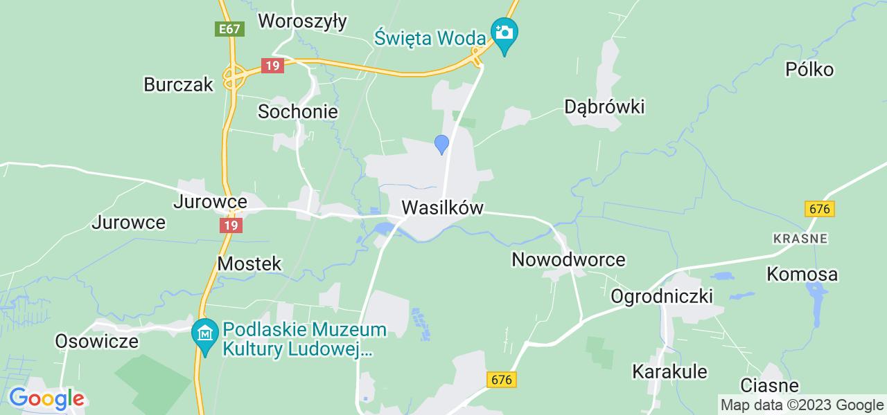 Dostępne w Wasilkowie lokalizacje punktów nadania, z których możesz skorzystać, chcąc wysłać turbinę do regeneracji w największym serwisie w Polsce