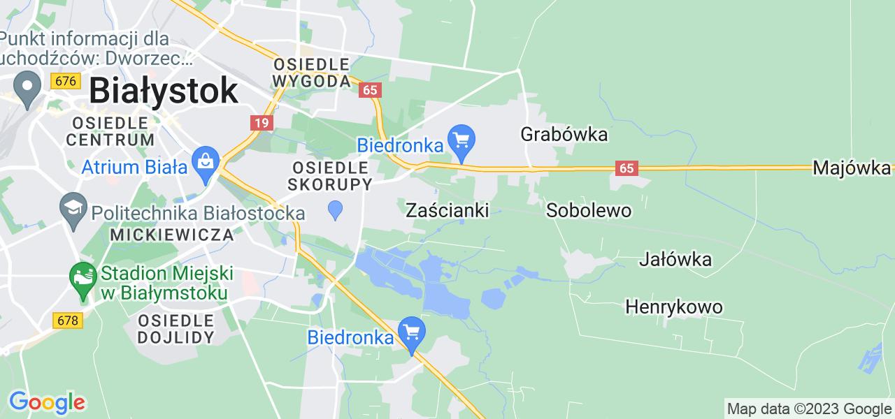 Dostępne w Zaściankach lokalizacje punktów nadania, z których możesz skorzystać, chcąc wysłać turbinę do regeneracji w największym serwisie w Polsce
